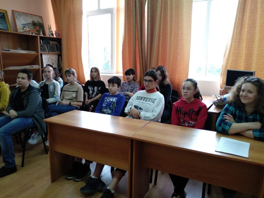 Учащиеся на творческой встрече